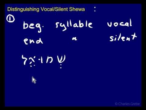 3.02 - Distinguishing Vocal - Silent Shewa - Part 1