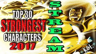 🔴 ONE PIECE TOP 30 STRONGEST CHARACTERS STREAM - VERY HEATED DEBATE!