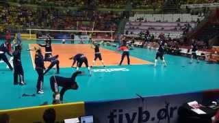 Warm Up USA Volleyball Team World Grand Prix 2014 São Paulo