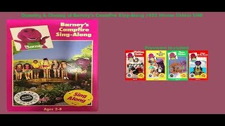 Barney's Campfire Sing Along 1992 (Home Video) VHS Opening & Closing