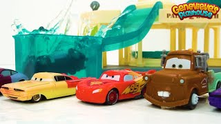 Color Changing Disney Cars Learning Video for Kids - Race Day Fun!