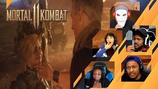 Gamers Reactions to Johnny Cage And Cassie Cage Cry Over Sonya Blade's Death | Mortal Kombat 11