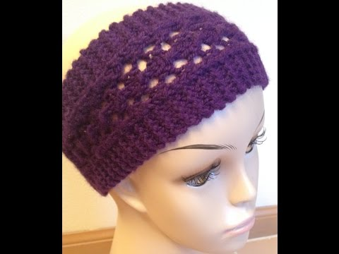 How To Knit Easy Lacy Headband Knitting Lace For Beginners