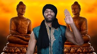 Jinder Mahal demonstrates a breathing exercise for achieving inner peace