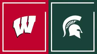 First Half Highlights: Michigan State at Wisconsin | Big Ten Basketball