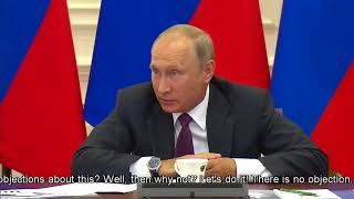 PUTIN Calls out OWN DEPUTY FINANCE MINISTER
