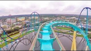 FULL Kraken roller coaster POV at SeaWorld Orlando (without Unleashed VR)
