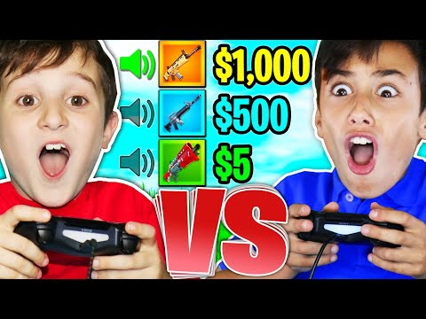 FIRST TO GUESS GUN SOUND WINS 1000 9YR OLD vs 12YR OLD 1V1 Fortnite Challenge