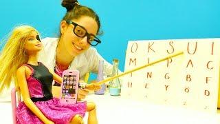 Barbie'ye göz testi yaptırıyoruz. #Barbie ve #doktoroyunları. Eğitici #kızoyunları. Göz jimnastiği