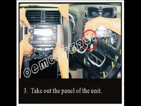 How to install Toyota navigation dvd on Toyota  Prado