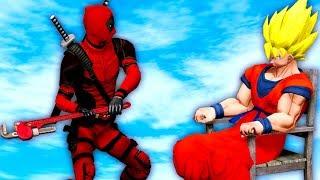 DEADPOOL VS GOKU - EPIC BATTLE | Grand Theft Auto