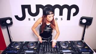 Juicy M mixing on 4 CDJs at Jump Records studio