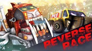 CryptoTrucks | Reverse Racing | Good Vs Evil | Sasqaush | Funky Truck | Crazy Trucks | Kids Video