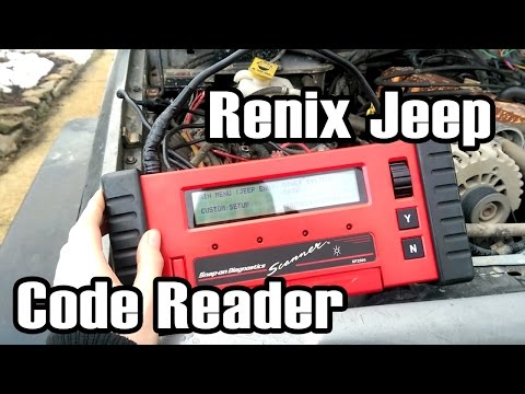89 Cherokee Reading Sensor Data with a Snap On Scanner