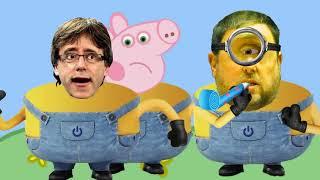 Peppa Pig y los Minions banana