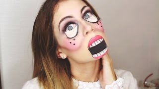 SIMPLE HALLOWEEN-DOLL-MAKEUP | BELLA