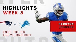Lions First 100-Yd Rusher Since 2013, Over 70 Games, is Kerryon Johnson!