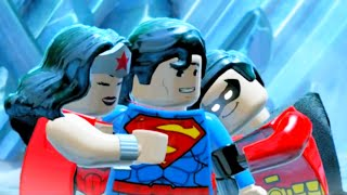 LEGO Batman 3 Beyond Gotham All Cut Scenes & Boss Fights HD 60FPS 1008p