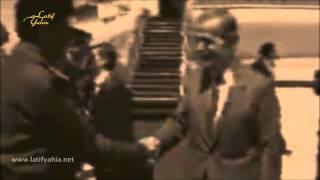 الرئيس الراحل صدام حسين يلتقي الرئيس حافظ الاسد بوساطة الملك حسين فلم نادر جداً
