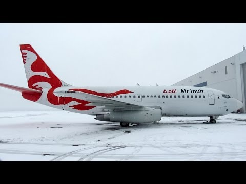 Air Inuit 737-200 (B732) Engine start and departure from Montreal (YUL/CYUL)