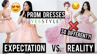 Try on: CHEAP Prom Dresses from YESSTYLE 2019 | I think I'm too short for these...