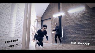 Popping Freestyle | Popping Jonty & Sem Popper | The D-Unity Crew