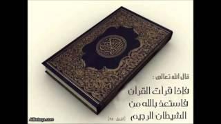 سورة الفاتحة وأول البقرة وآخرها وآية الكرسي والمعوذات بصوت الشيخ سعد الغامدي ( ساعة كاملة)