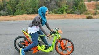 Drag Bike Raya Kitty vs indri barbie