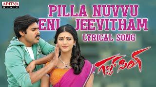 Gabbar Singh Songs W/Lyrics - Pilla Nuvvuleni Jeevitham Song - Pawan Kalyan, Shruti Haasan, DSP