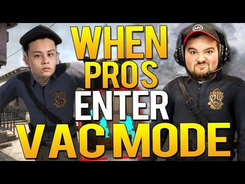 CS:GO - WHEN PRO PLAYERS ENTER VAC MODE!(CRAZY SHOTS)