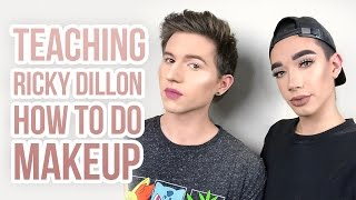 TEACHING RICKY DILLON HOW TO DO MAKEUP!