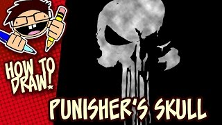 How to Draw THE PUNISHER's Skull Symbol (Netflix Series)   Easy Step-by-Step Drawing Tutorial