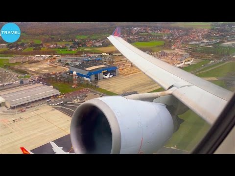 ENGINE ROAR BRUSSELS AIRLINES A330 300 Takeoff from Brussels MAX VOLUME