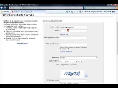 Jak zarejestrować się na youtube spryciarze.pl