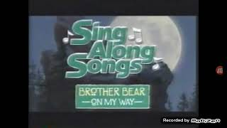 Brother Bear Sing Along Songs DVD Commercial