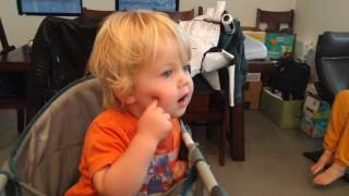 Two year old has an argument with Amazon Alexa