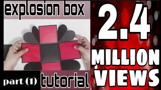 Explosion box basic tutorial part (1) for beginners.  Paper handmade craft DIY
