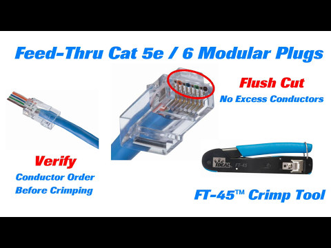 IDEAL FT-45 Feed-Thru Modular Plug Crimp Tool Short