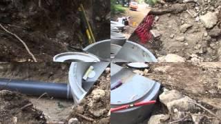 pose des regard et tuyeau pvc pour eau pulivial et eau usée