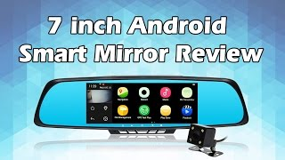 """Toguard M30 7"""" android Smart rearview mirror WIFI Dual lens dash cam GPS navigation FM transmitter"""