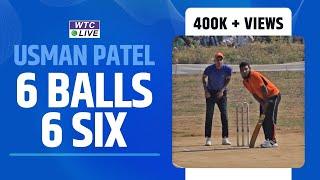 Usman Patel hited 6 ball 6 sixes at Kiravli Tournament,Panvel