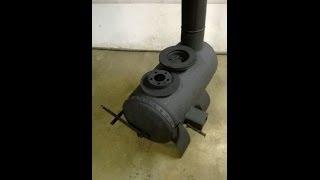 $20 Woodstove made from a propane tank - Backyard mechanic DIY