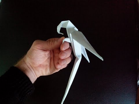 Оригами из бумаги как сделать попугая