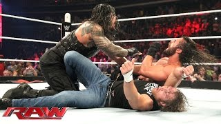 Roman Reigns & Dean Ambrose vs. Kane & Seth Rollins - No Disqualification Tag Team Match: Raw, June