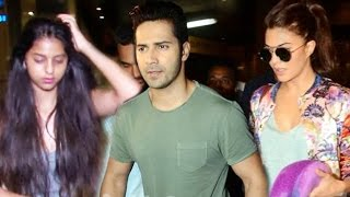 Varun Dhawan, Jacqueline Fernandez, Suhana Khan Spotted At Airport