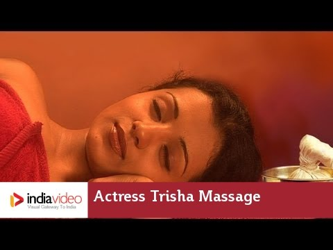 Massage video of film actress Trisha, one of her earliest work | India Video