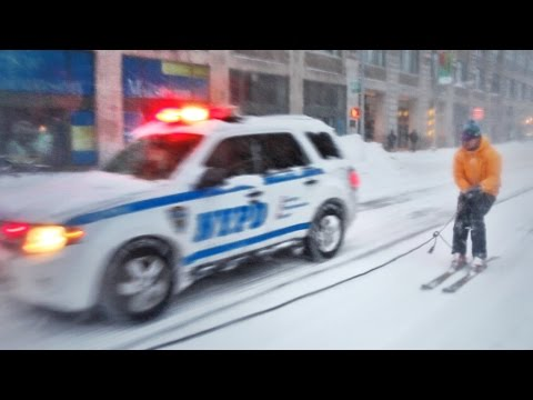 SNOWBOARDING WITH THE NYPD