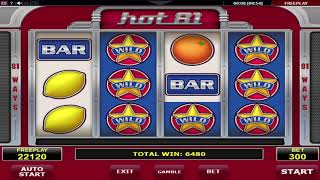 Hot81 video slot - Online Fruitmachine Review by Amatic