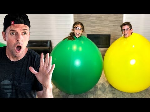 STUCK IN A GIANT BALLOON