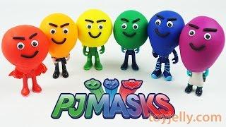 Play Doh Superhero PJ Masks Learning Colors for Children Finger Family Nursery Rhymes Compilation